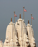 Hindu Temple Spires on a clear day.