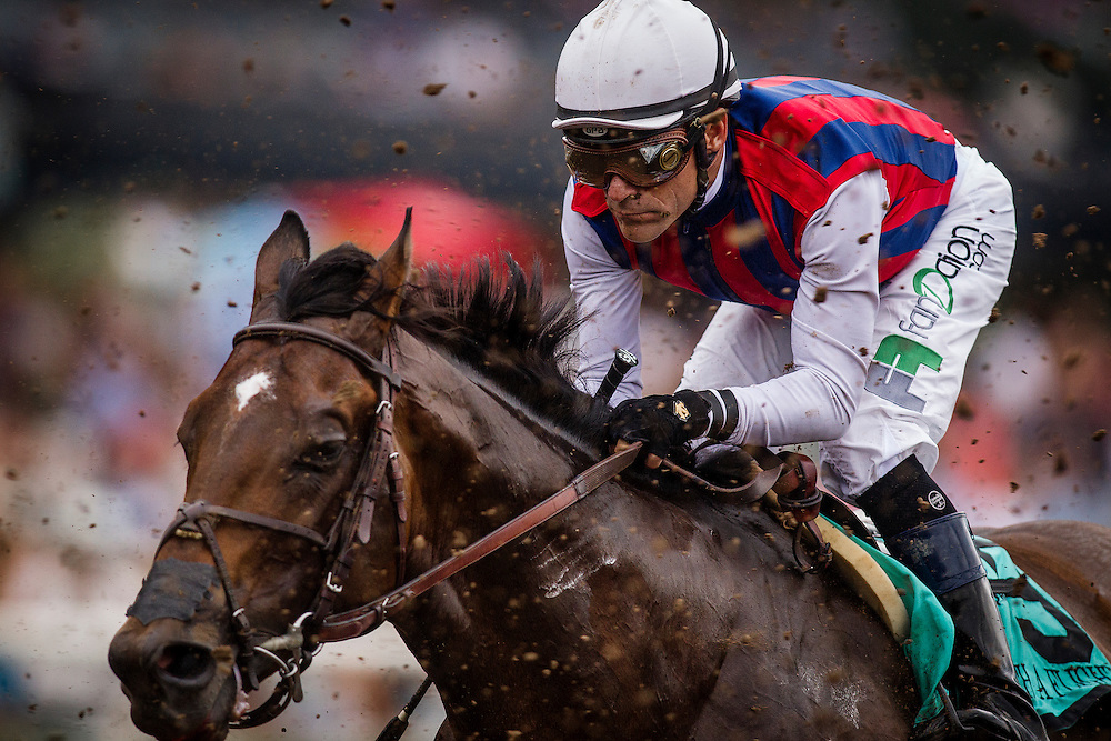 June 27 2015: Catch a Flight and Gary Stevens races through the kick back in the Santa Anita Gold Cup at Santa Anita Park in Arcadia CA. Alex Evers/ESW/CSM