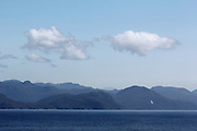 A couple of clouds hover over Canada's Inside Passage