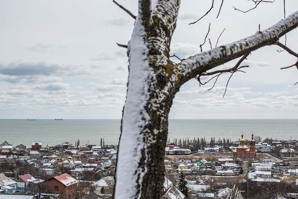 An overview of the town on Sunday, March 20, 2016 in Melekyne, Ukraine.