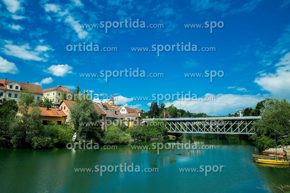 Peloton at bridge in Novo mesto during Stage 4 of 22nd Tour of Slovenia 2015 from Rogaska Slatina to Novo mesto (165,5 km) cycling race  on June 21, 2015 in Slovenia. Photo by Vid Ponikvar / Sportida