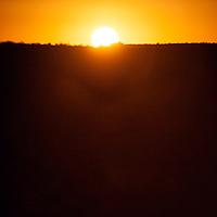 Sunrise. Sungazing