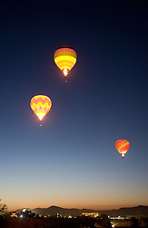 """Balloons Over Reno""- These hot air balloons are part of the Dawn Patrol in The Great Reno Balloon Race."