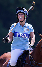 JULY 13 2013 Pregnant Zara Phillips playing Polo