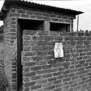 IPLM0015 , South Africa, Venda, June 2001. Ablution block near public arena in small village.
