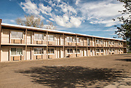 Sidney Montana, empty motel, after Bakken oil bust