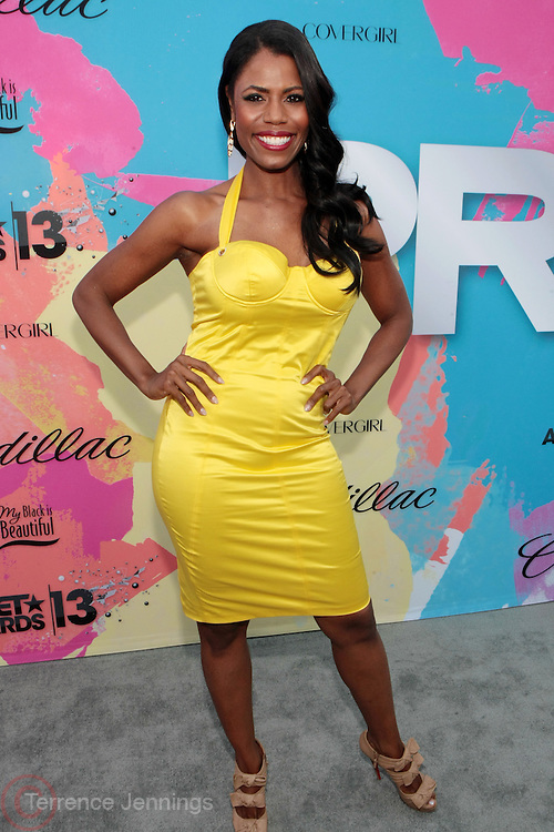"""Los Angeles, CA-June 29:  Reality TV Personality/Producer Omarosa Manigault attends the Seventh Annual """" Pre """" Dinner celebrating BET Awards hosted by BET Network/CEO Debra L. Lee held at Miulk Studios on June 29, 2013 in Los Angeles, CA. © Terrence Jennings"""