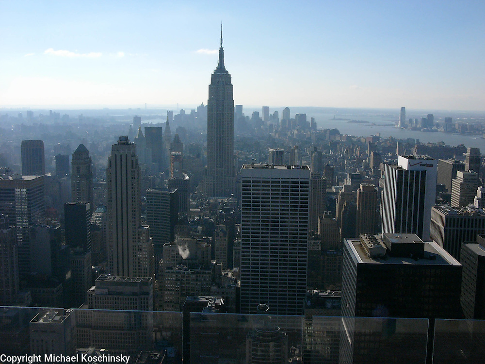 View from Top of the Rock towards Empire State Building