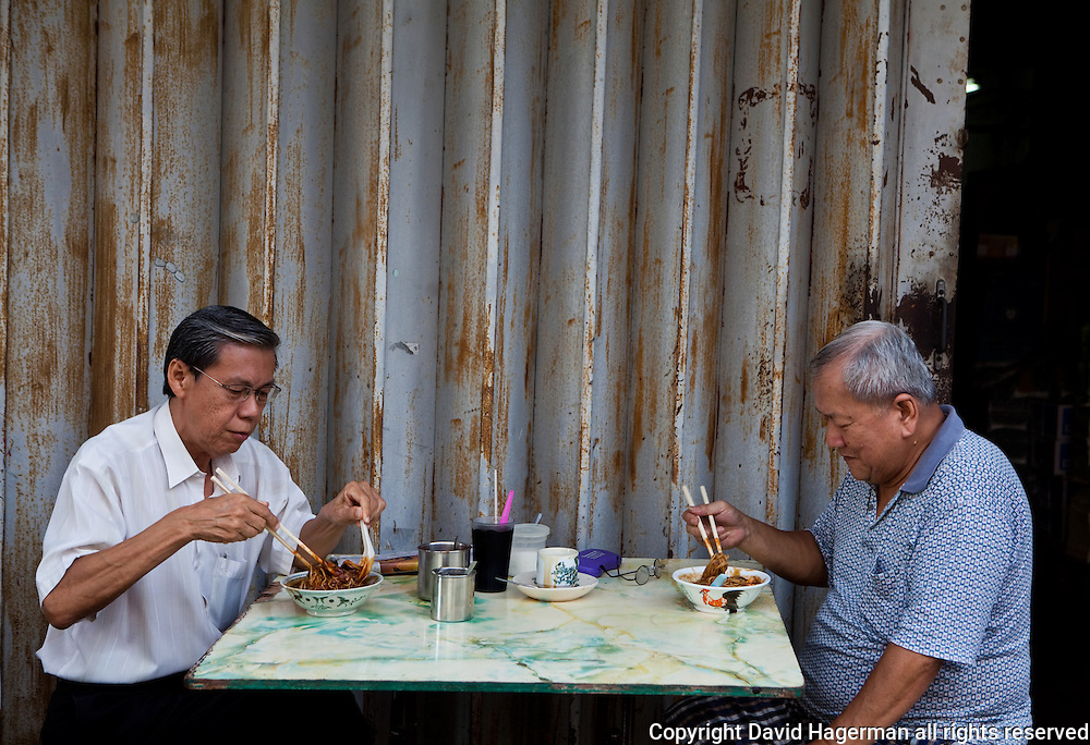 dining curbside, George Town, Penang, Malaysia