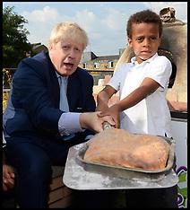 JUL 18 2014 Boris Johnson & Henry Dimbleby school breakfast