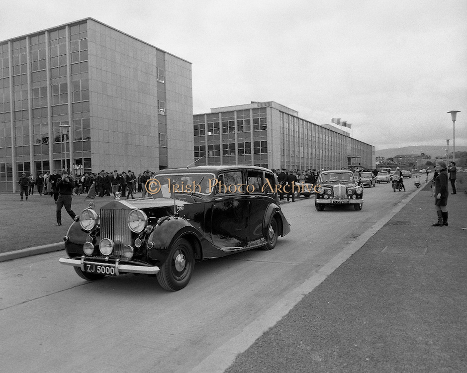 Belgian Royal Visit - King Baudouin and Queen Fabiola of Belgium visit University College Dublin..15.05.1968