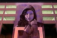 USA, Nevada, Reno, mural at parking garage,