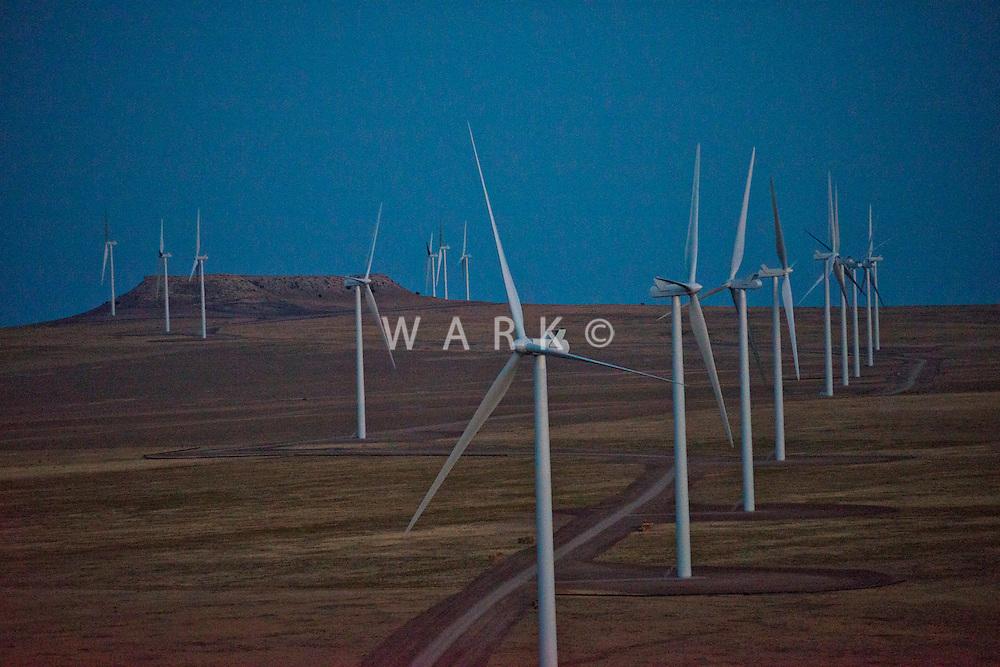 Wind Farm.  10 miles east of Walsenburg, Colorado. September 2012