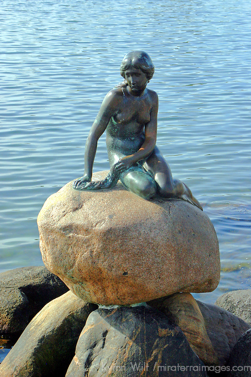 Europe, Denmark, Copenhagen. The Little Mermaid Statue in Copenhagen.