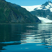 Pederson Glacier at the edge of Aialik Bay in Kenai Fjords National Park Alaska