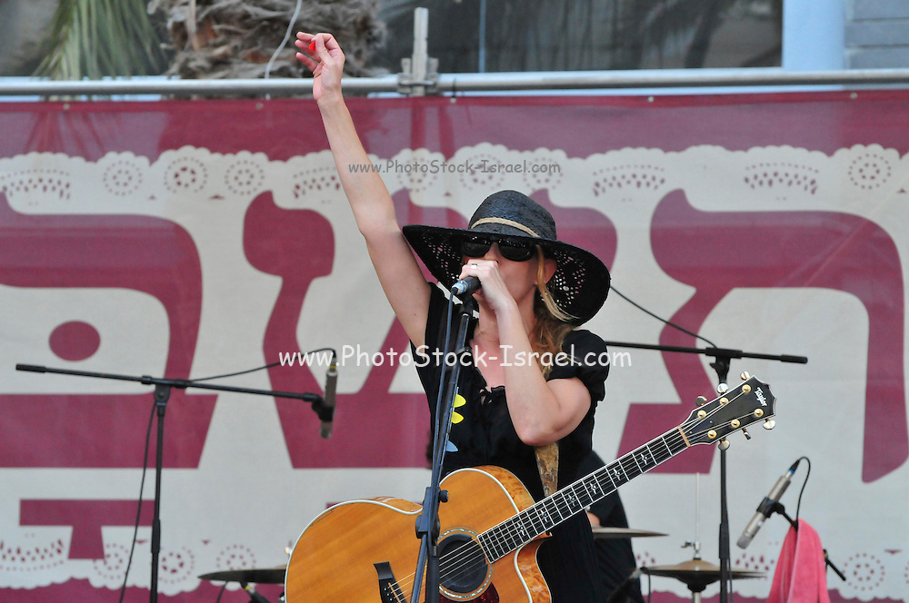 Israel, Haifa, Dana Berger in an outdoor concert