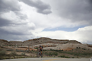 SHOT 5/6/16 2:46:24 PM - Moab is a city in Grand County, in eastern Utah, in the western United States. Moab attracts a large number of tourists every year, mostly visitors to the nearby Arches and Canyonlands National Parks. The town is a popular base for mountain bikers and motorized offload enthusiasts who ride the extensive network of trails in the area. Includes images of Scenic Byway 128, Fisher Towers and downtown Moab. (Photo by Marc Piscotty / © 2016)