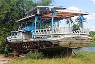 Boat near Laguna de la Leche, Moron, Ciego de Avila, Cuba.