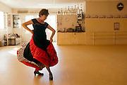 Flamenco dancer Ambar Gonzalez is the director of the Estudio de Danza Ambar in Nuevo Laredo. The studio offers dance classes for flamenco, jazz, hip hop and ballet.<br /> <br /> Nuevo Laredo, Tamaulipas, Mexico.<br /> <br /> &copy; Stefan Falke<br /> www.stefanfalke.com<br /> La Frontera: Artists along the US Mexican Border