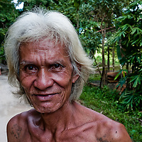 Portrait of a man in the jungles of Thailand
