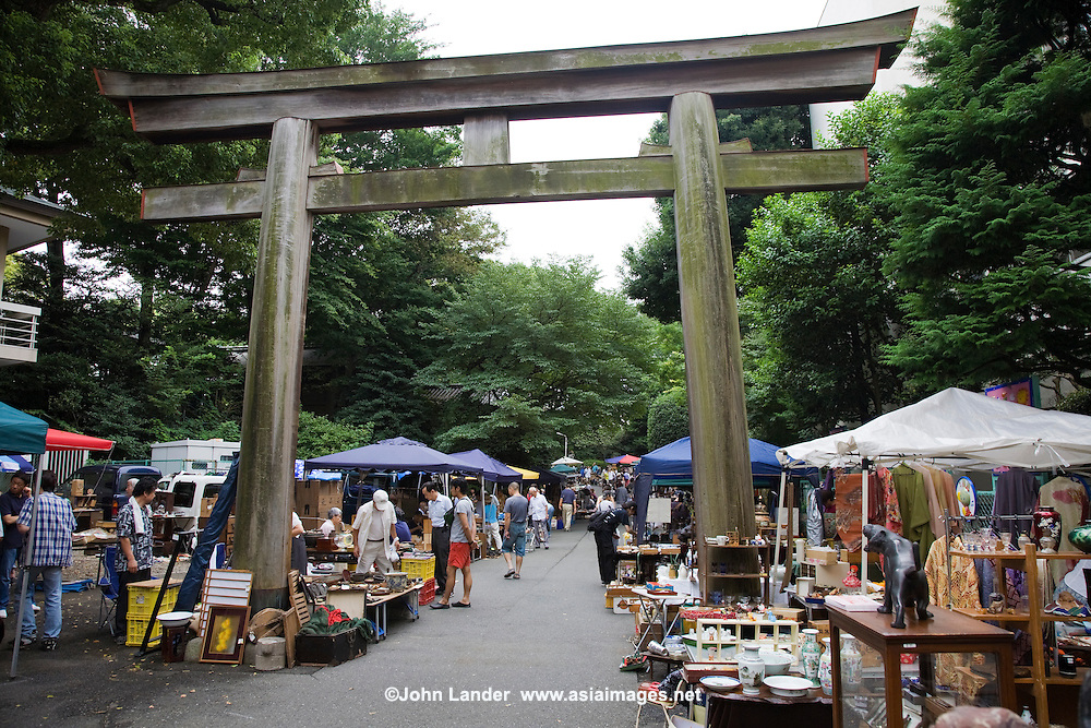 Togo Shrine Garden, in Harajuku, is the location of the renowned Togo Shrine Market held on the first and fourth Sundays of each month.