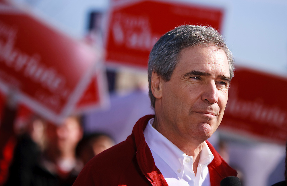 Liberal leader Michael Ignatieff speaks during a press conference in Guelph, Ontario April 30, 2011.<br /> REUTERS/Geoff Robins