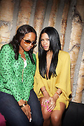 l to r: Chrisette Michelle and Cassie at Solange Knowles NYC Album release party held at Butter in New York City on September 5, 2008