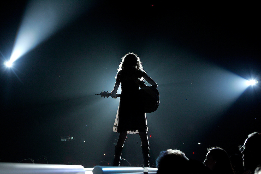 SCOTT MORGAN | ROCKFORD REGISTER STAR.Taylor Swift performs during a sold out show with Brad Paisley and Rodney Atkins Friday, Nov. 16, 2007 at the MetroCentre in Rockford.