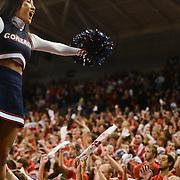 Cheerleaders fire up the Kennel Club vs. Southern Utah<br /> <br /> Photo by Rajah Bose