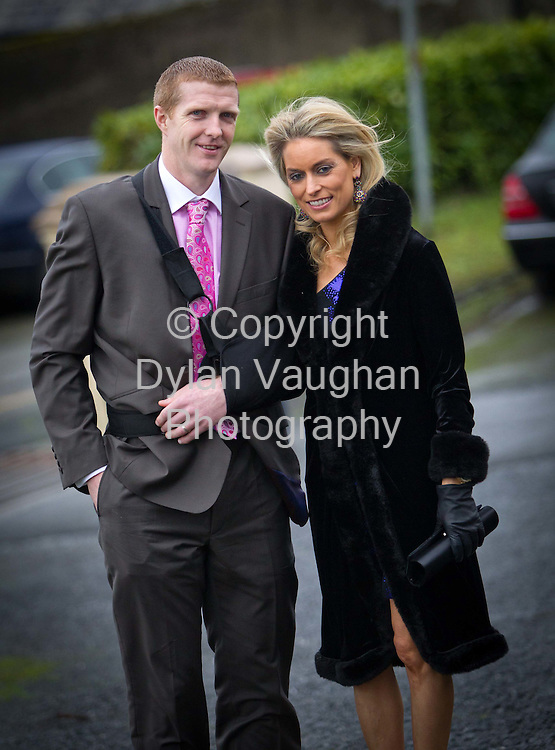 30/12/2011.Henry Shefflin and his wife Deirdre pictured at the Tommy & Marlis Walsh Wedding in Muckalee County Kilkenny yetserday.Picture Dylan Vaughan...