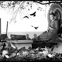 USE ARROWS &larr; &rarr; on your keyboard to navigate this slide-show<br /> <br /> Gandara , Sri Lanka 3 January 2005<br /> The Vijayaratnaramaya Boudhist temple destroyed by the tsunami, located in the south of Sri Lanka.<br /> Photo: Ezequiel Scagnetti