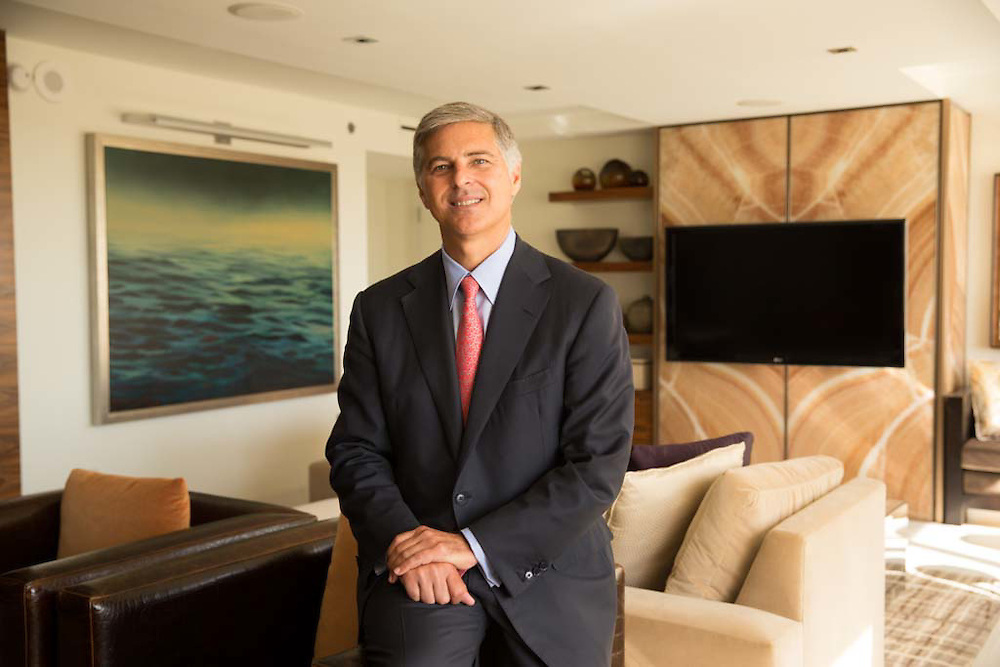 Chris Nassetta, president and chief executive officer of Hilton Worldwide, poses for a portrait in McLean, VA, on July 25, 2014.