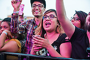 Fans enjoy Enjambre performing at Ruido Fest.