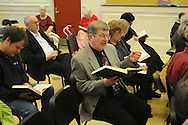 Warren Steel participates in Sacred Harp singing at Ole Miss in Oxford, Miss. on Sunday, March 14, 2010.
