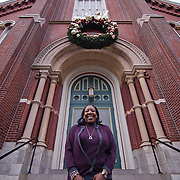 12/16/11 Wilmington DE: Program Director of Hope House II &amp; III Renee Mosley standing out of Sacred Heart Oratory Friday Dec. 16, 2011 in Wilmington Delaware.<br /> <br /> Special to The News Journal/SAQUAN STIMPSON