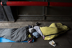 APR 04 2014 Homeless sleeping this morning in Central London