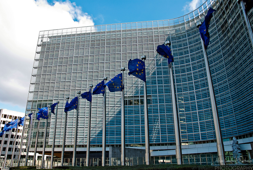 The Berlaymont building in Brussels, Belgium is the headquarters of the European Commission.