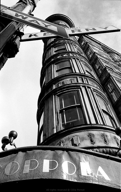 Cafe Niebaum at the bottom of the Sentinel Building owned by Francis Ford Coppola, Columbus avenue, North Beach, San Francisco