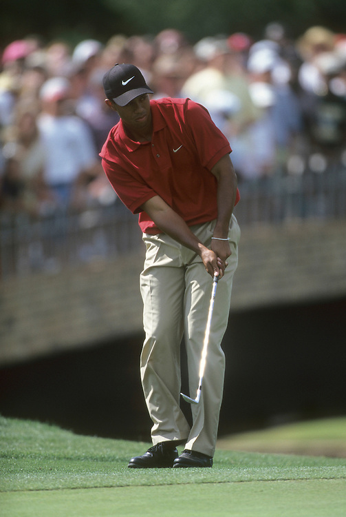 Tiger Woods at the 1997 GTE Byron Nelson Classic held at the Four Seasons Resort and Club Dallas at Las Colinas in Irving, Texas