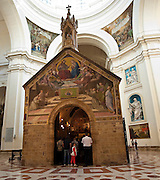 """St. Mary of the Angels Basilica, located on the outskirts of Assisi, Italy, houses the Porziuncola (""""little portion""""), the original stone chapel restored and frequently used by St. Francis. (Sam Lucero photo)"""