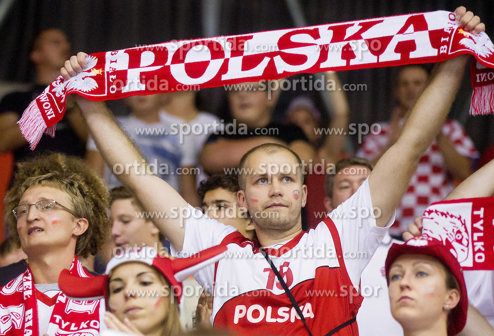 Fans during basketball match between National teams of Croatia and Poland in Round 1 at Day 4 of Eurobasket 2013 on September 7, 2013 in Arena Zlatorog, Celje, Slovenia. (Photo by Vid Ponikvar / Sportida.com)