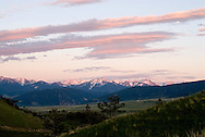 Absaroka Range, south of Livingston, Montana, from the west, Gallatin National Forest, Absaroka Beartooth Wilderness Area