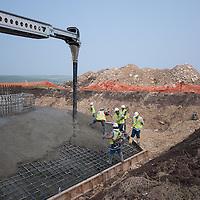 concrete filling at turbine base