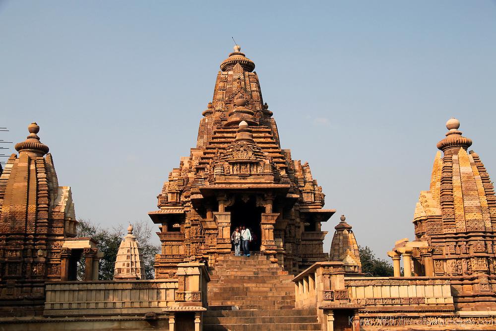 Asia, India, Khajuraho. Lakshmana Temple at Khajuraho.
