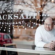 Chef Geoff Black poses for a portrait at his restaurant Blacksalt in Washington, DC.