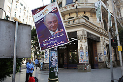 A poster of independent candidate and former judge Hisham al-Bistawisi in downtown Cairo..