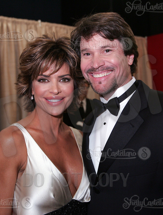 28 April 2006: Soap Opera stars Peter Reckell and Lisa Rinna of General Hospital in the exclusive behind the scenes photos of celebrity television stars in the STAR greenroom at the 33rd Annual Daytime Emmy Awards at the Kodak Theatre at Hollywood and Highland, CA. Contact photographer for usage availability.
