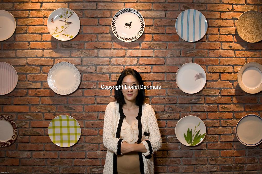 Grace Ching in Loveramics store in Sheung Wan, Hong Kong.