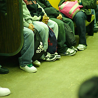 People riding the New York Subway.New York commuters