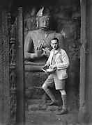E.O. Hoppé and Buddha, Ajanta Caves, India; 1929